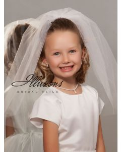 First Communion Veil with Cut Edge-3 Sizes Available