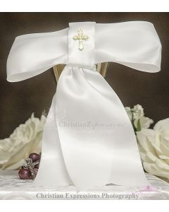 Boys Satin First Communion Armband with Cross