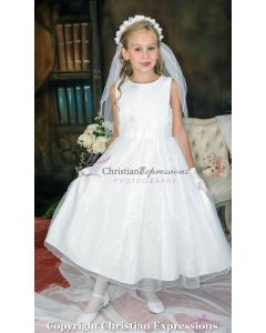 Sequined Bodice First Communion Dress