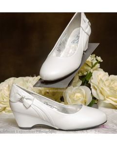 Shoes First Communion Shoes Wedge with Bow