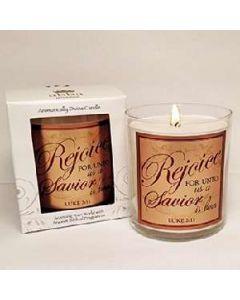 Frankincense & Myrrh-Rejoice Scented Scripture Candle