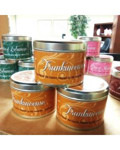 Frankincense Scripture Scented Candle Tin