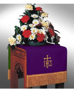 Reversible Flower Stand Cover Hunter/Purple Symbols