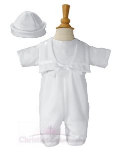 Boys Nautical Gabardine Irish Christening Outfit Shamrocks