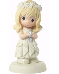 Girls Porcelain Precious Moments First Communion Figurine