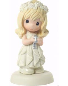 Girls Porcelain Precious Moments First Communion Figurine