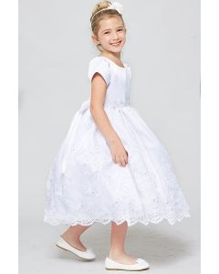 Satin and Organza First Communion Dress