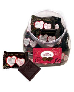 God So Loved Me Christian Dark Chocolates Scripture Candy Jar