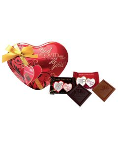 God So Loved Me Heart Scripture Candy Tin