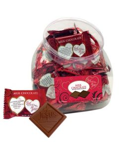 God So Loved Me Christian Chocolates Scripture Candy Jar