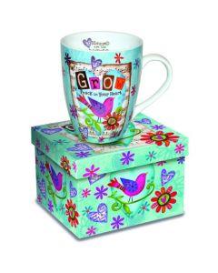 Grow in Peace Christian Coffee Mug
