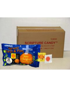 Harvest Pops and Cards Scripture Candy Case
