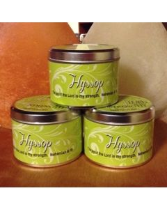 Hyssop Scripture Scented Candle Tin