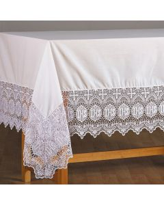 IHS Lace Altar Frontal