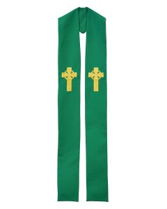 Irish Celtic Cross Clergy Stole or Deacon Stole