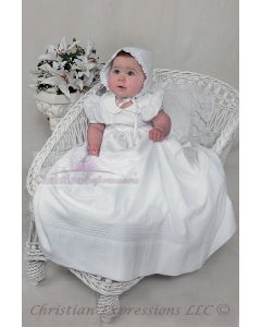 Girls Irish Shamrock Christening Gown