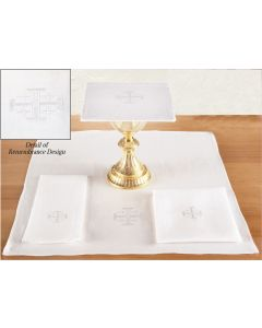Jerusalem Cross Altar Linen Set  Poly/Cotton Blend