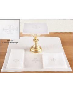 Jerusalem Cross Altar Linen Set  Poly/Cotton Blend