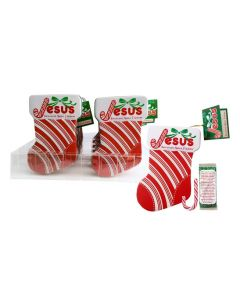Jesus Scripture Candy Cane Stocking Tin Case