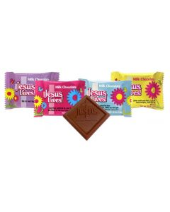Jesus Lives Easter Chocolate Scripture Candy- Bulk