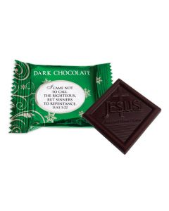 Jesus Sweetest Name I Know Christmas Dark Chocolate - Bulk