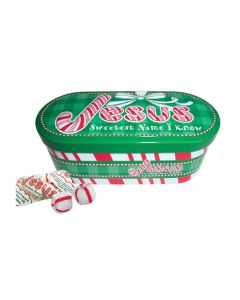 Jesus Sweetest Name I Know Soft Mints Scripture Candy Tin