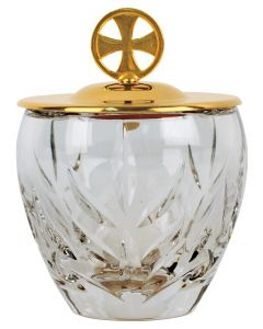 Crystal Ablution Cup with Gold Cover