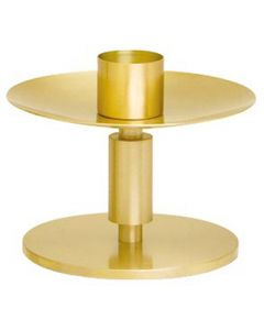 Church Altar Candlestick Brass Satin