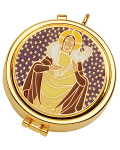 Communion Pyx with Jesus and Lamb 7 Cap