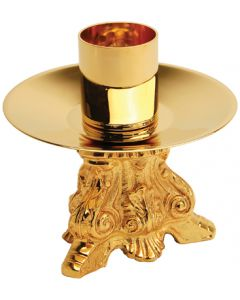 Ornate Church Altar Candlestick Gold Plated