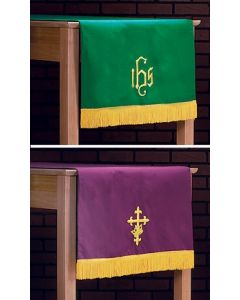 Purple/Green Table Runner Parament with Fringe