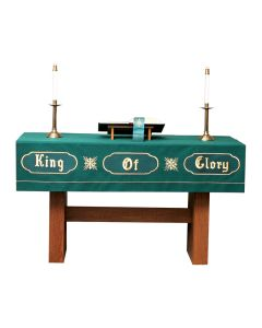 King of Glory Green Altar Frontal Asbury Series