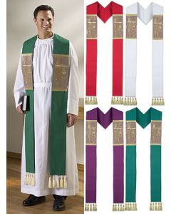 Alpha Omega Clergy Overlay Stoles Set of 4