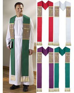 Alpha Omega Clergy Overlay Clergy Stole