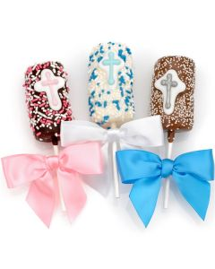 Christening  Favors Chocolate-Dipped Marshmallows