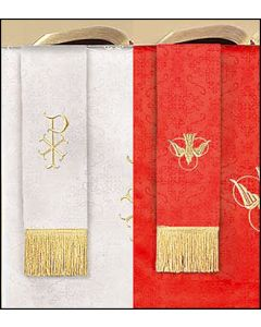 Reversible Bookmark with Dove Parament