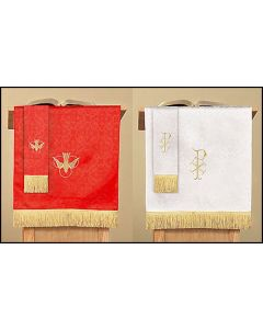Reversible Pulpit Scarf with Dove: Red/White Parament