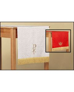 Reversible Table Runner with Dove: Red/White Parament