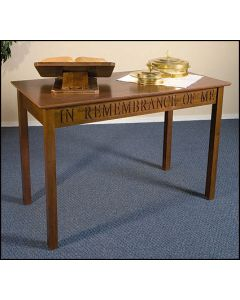 Communion Table This Do In Remembrance of Me Solid Maple