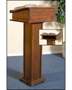 Church Lectern With Shelf Maple