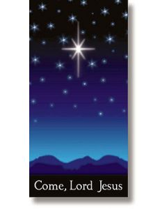 Come, Lord Jesus Christmas Church Banner