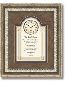 Lord's Prayer Framed Christian Wall Clock