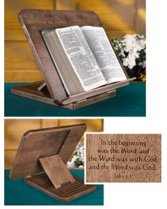 Bible Stand with Silk Screened Scripture Verse
