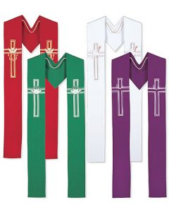 Seasonal  Clergy Overlay Stoles Set of 4