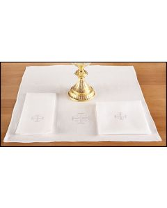 Altar Corporal with Jerusalem Cross 100% Linen