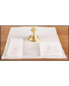 Altar Corporal with Jerusalem Cross 100% Linen
