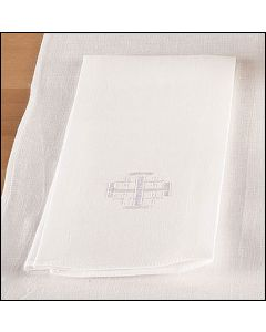 Altar Towel Cotton Blend  with Jerusalem Cross