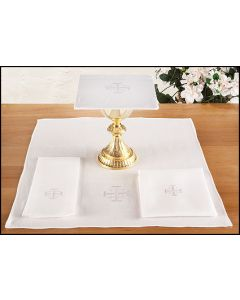 Altar Linens Set  with Jerusalem Cross Cotton Blend