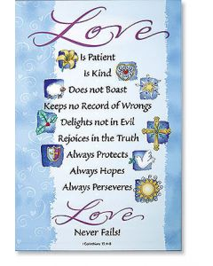 1 Corinthians 13:4 Scripture Church Banner