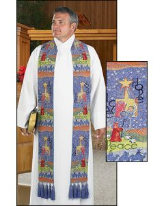 Story of Christmas Tapestry Clergy Overlay Stole